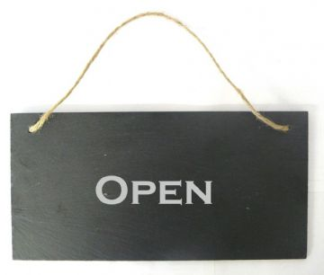 Open/Closed Double Sided Slate Sign